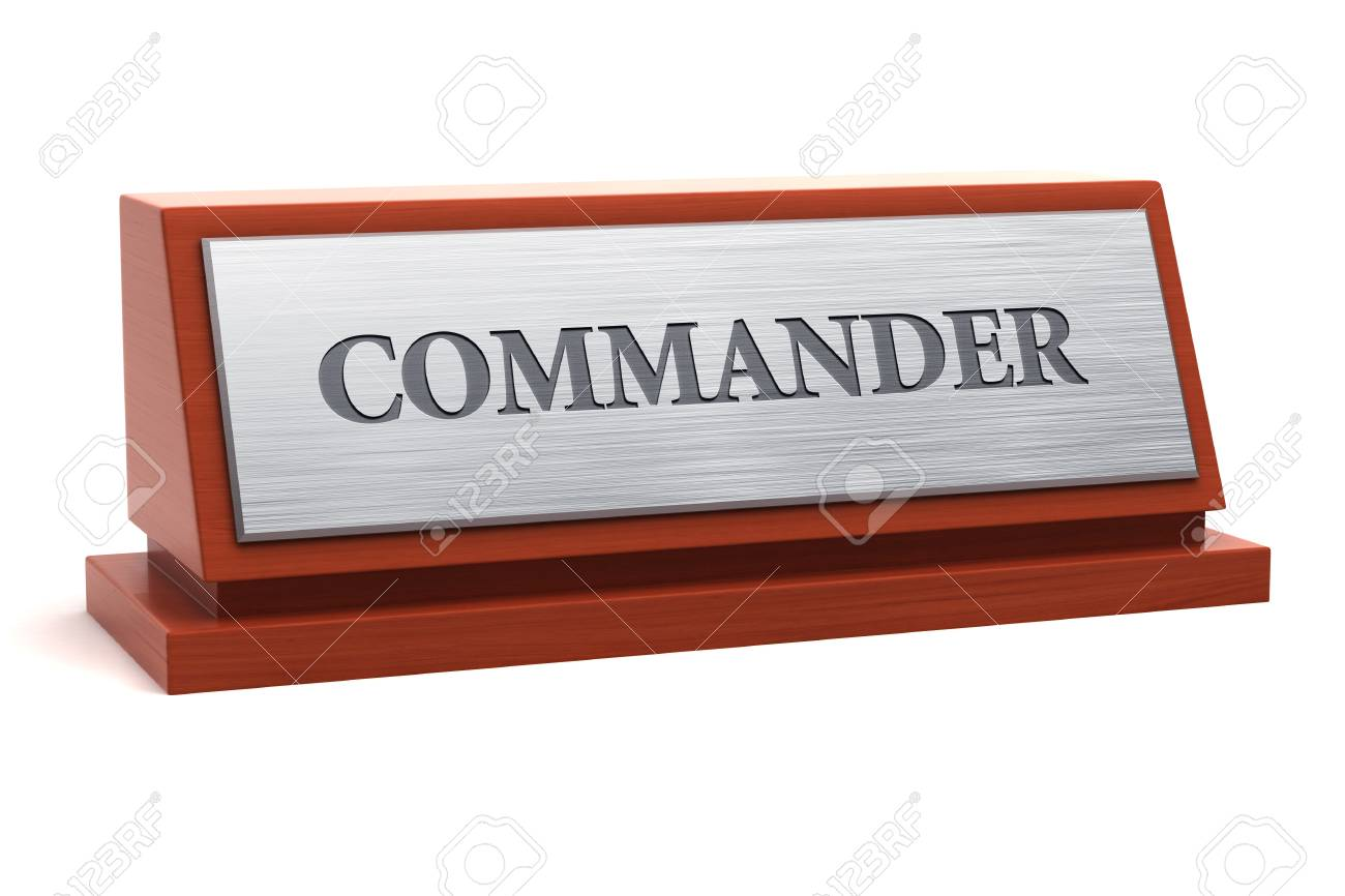 Commander title on nameplate - 95710781