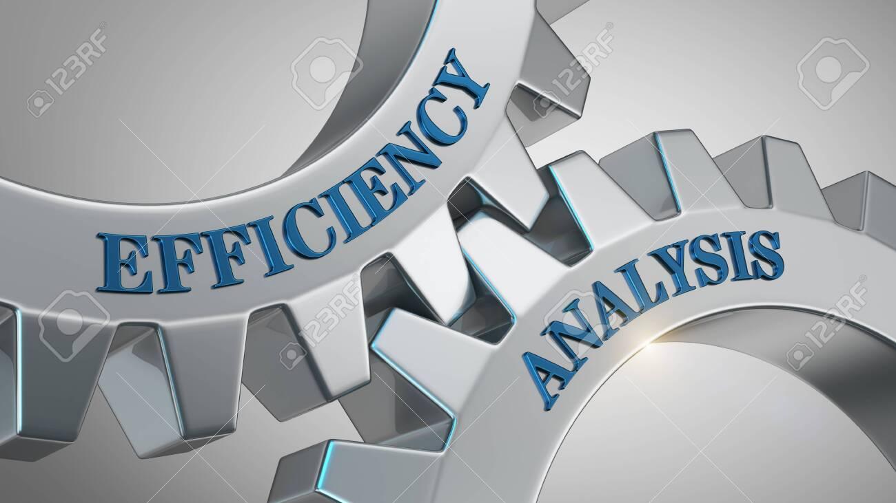 Efficiency analysis written on gear wheel - 125590842