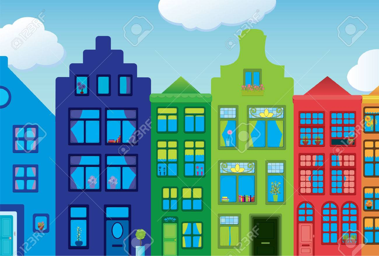 Colorful Town Stock Vector - 5230551