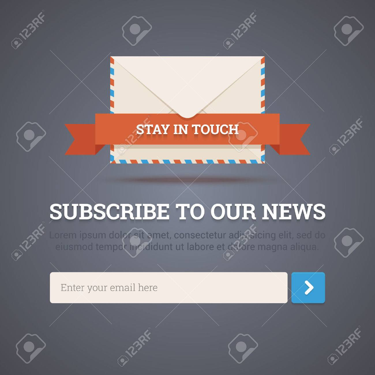 Newsletter Template - Subscription Form Royalty Free Cliparts ...