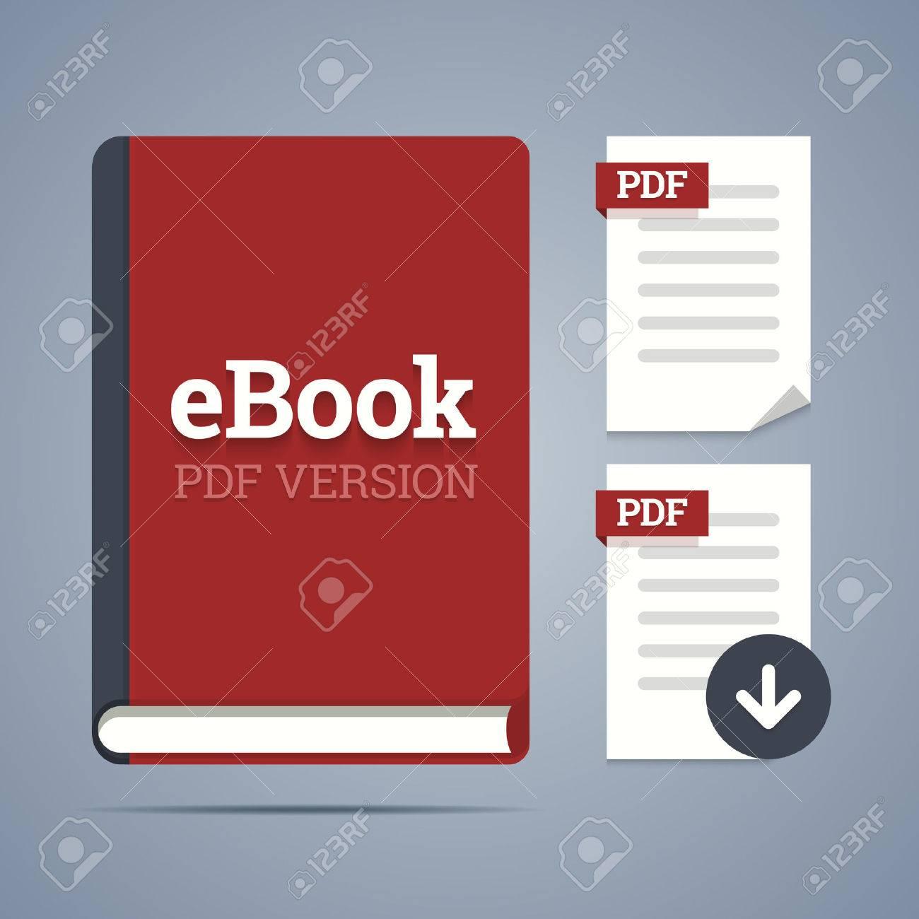 Plantilla EBook Con Pdf Etiquetas Y Páginas Pdf Iconos Con Descarga ...