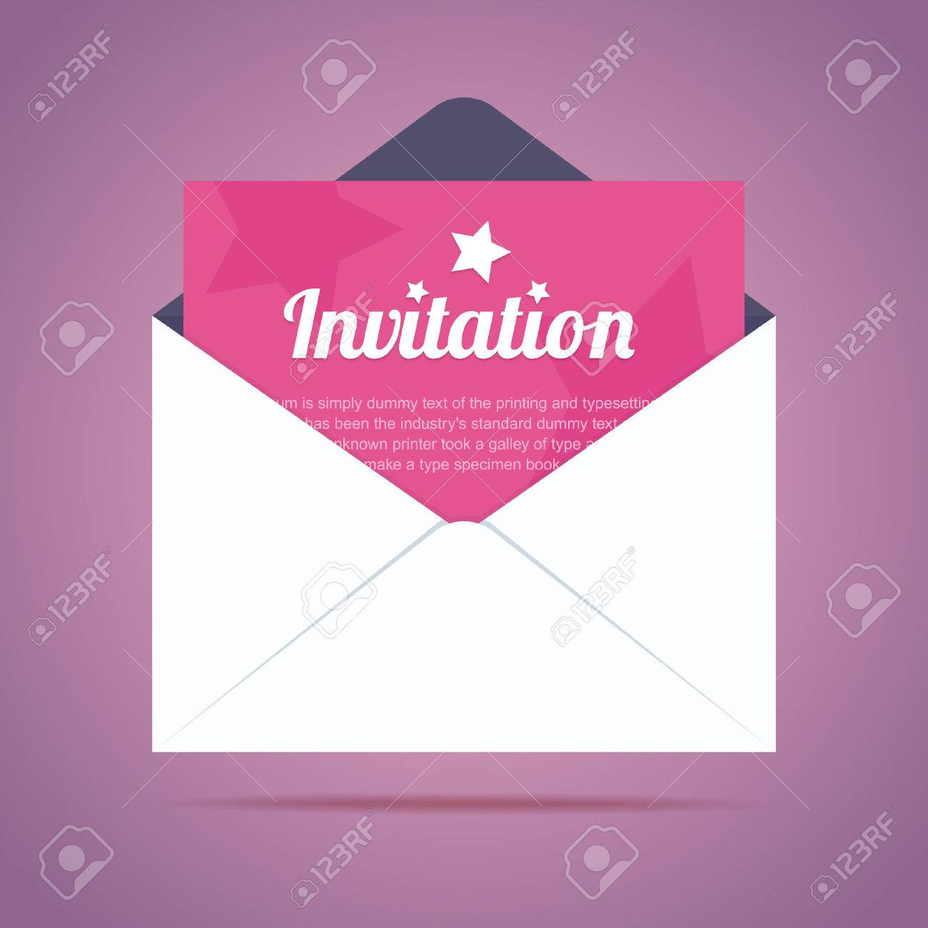 Envelope with invitation card and star shapes vector illustration envelope with invitation card and star shapes vector illustration imagens 34604383 stopboris Image collections
