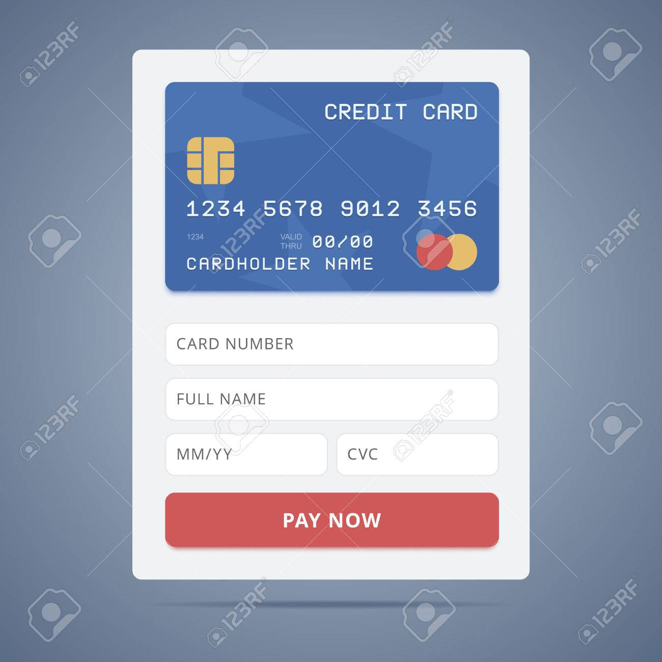 payment application form credit card illustration in flat payment application form credit card illustration in flat style and input forms stock vector