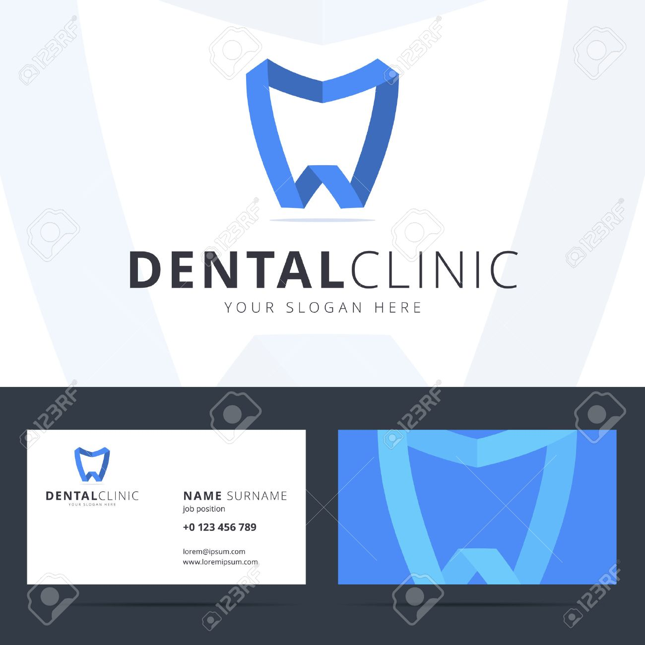 Dental business card designs gallery free business cards logo and business card template for dental clinic dental logo logo and business card template for magicingreecefo Gallery