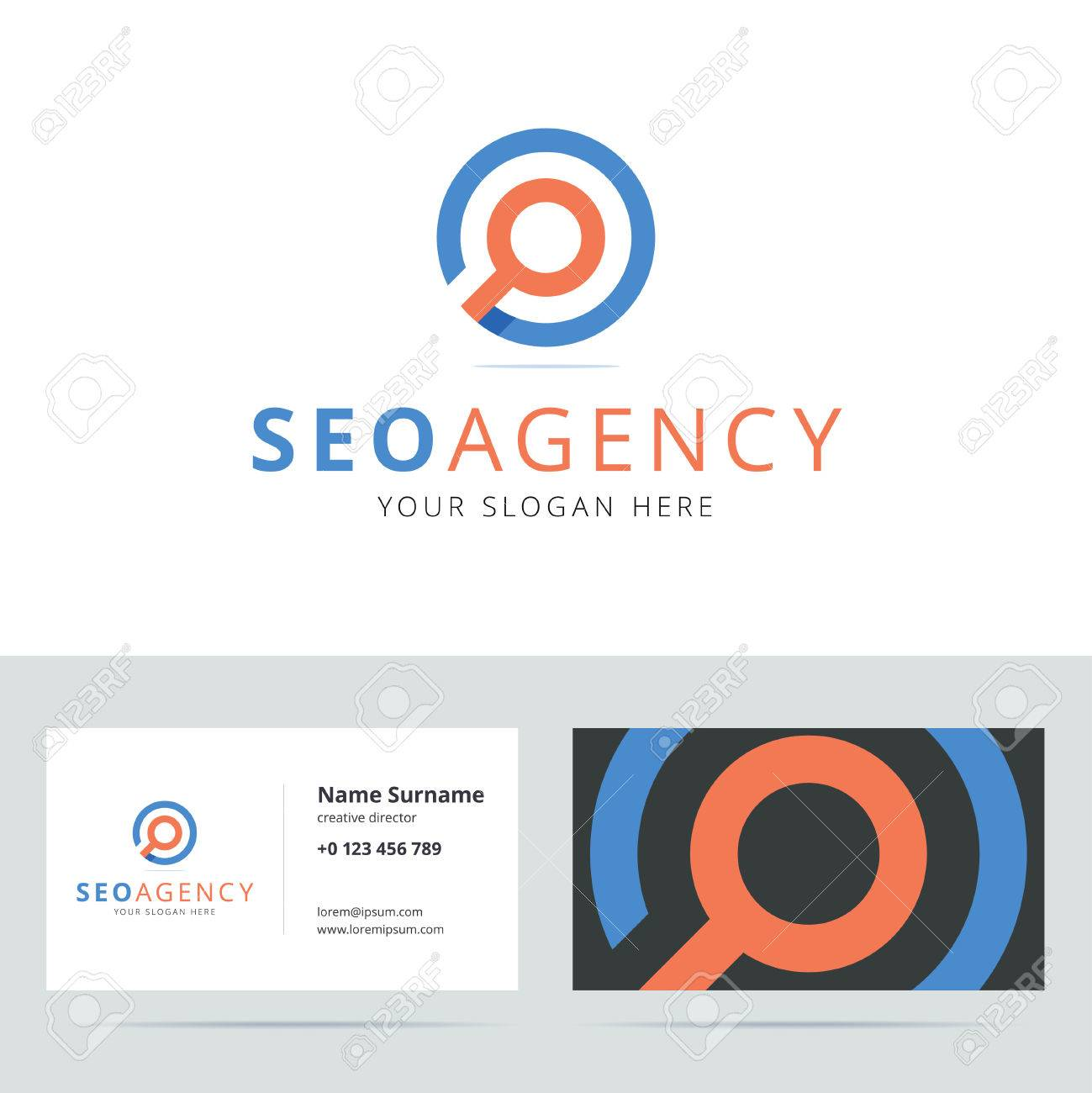 SEO Agency And Business Card Template. Search Engine Optimization ...