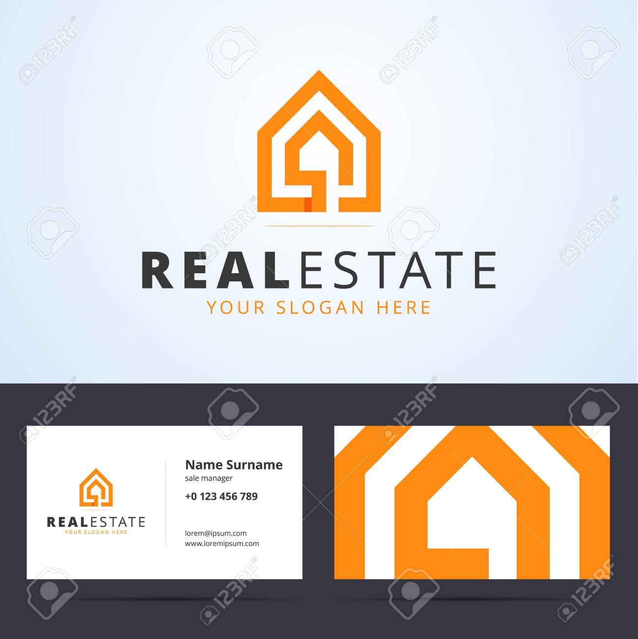 Logo Immobilire Immobilier Modle De Carte Visite Signe