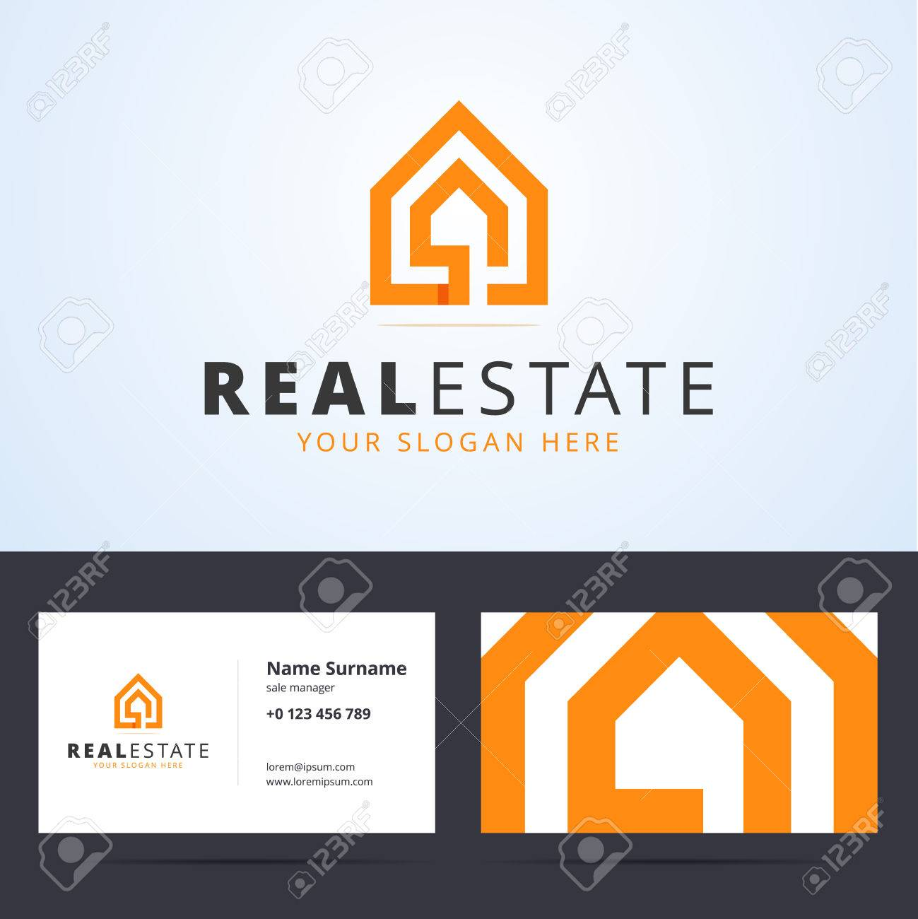 Real estate logo real estate business card template real estate real estate logo real estate business card template real estate sign with home shape reheart Images