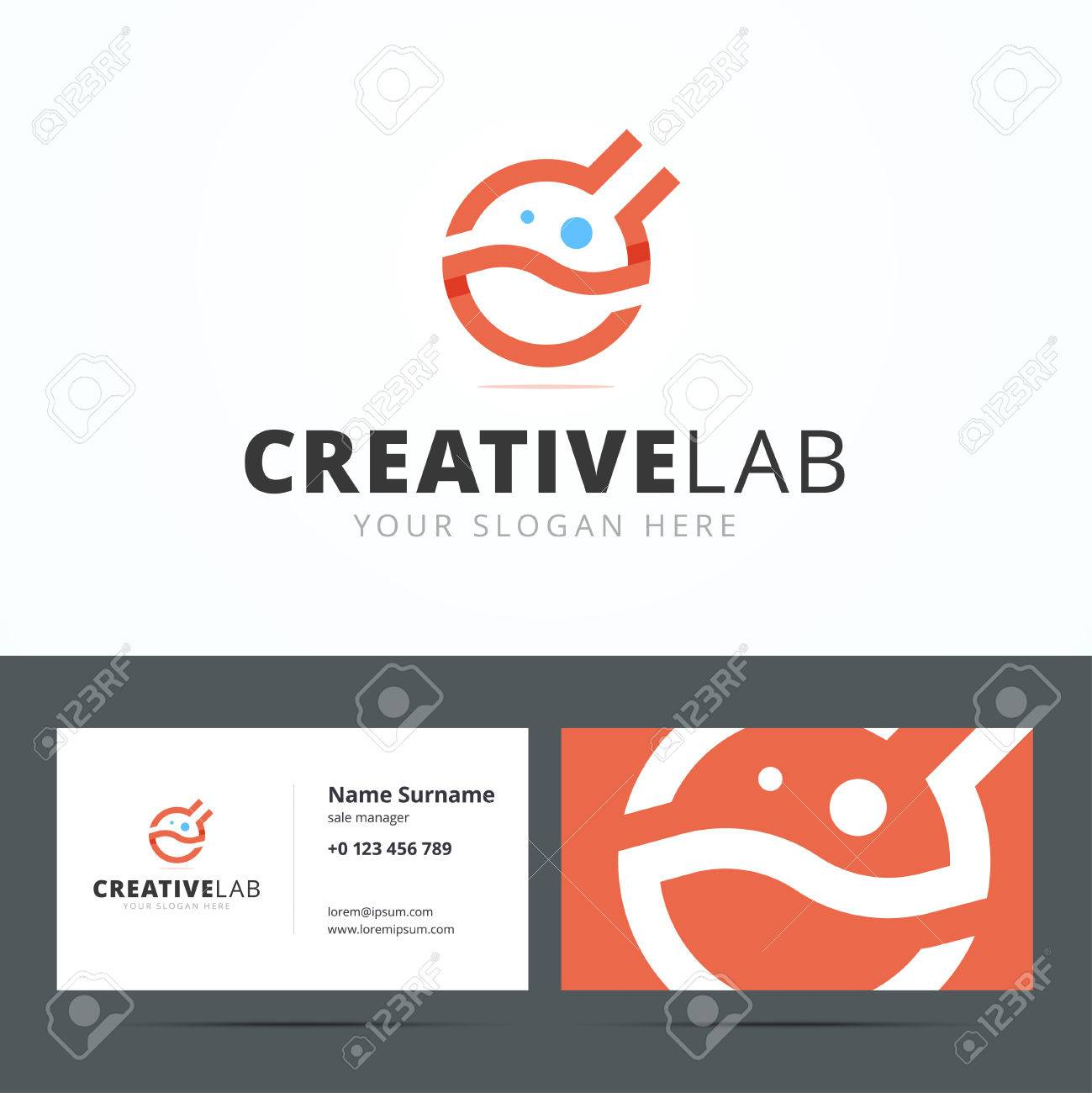 Logo And Business Card Template For Creative Studio. Medical ...