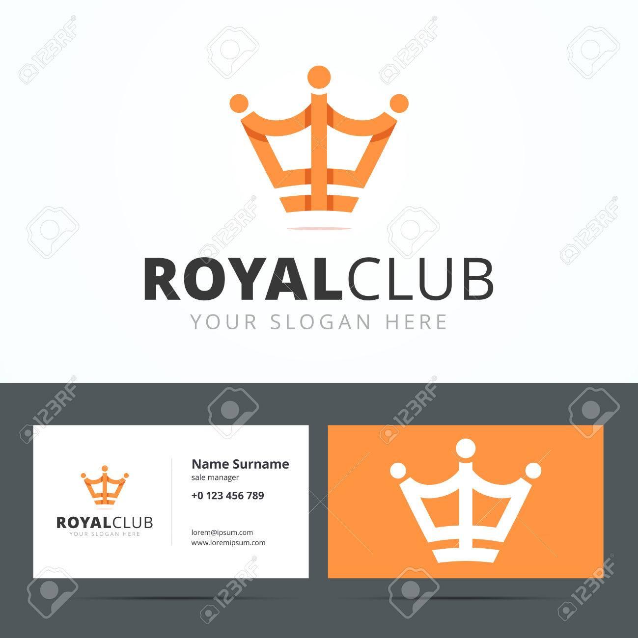 Royal Club Logo Und Visitenkarte Vorlage Vip Club Zeichen Crown