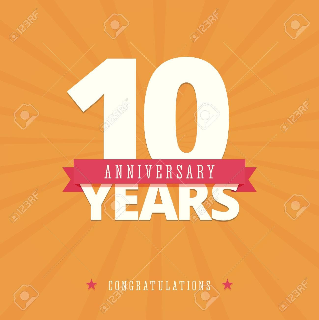 10 Jahriges Jubilaum Karte Poster Vorlage Lizenzfrei Nutzbare