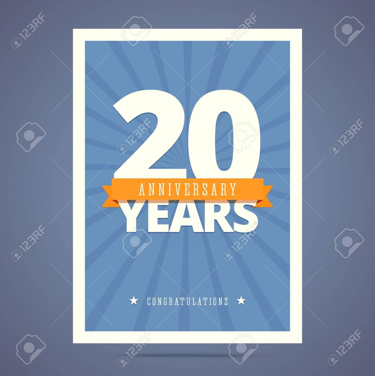 Carte D Anniversaire De 20 Ans Modele D Affiche Clip Art Libres De Droits Vecteurs Et Illustration Image 58076574