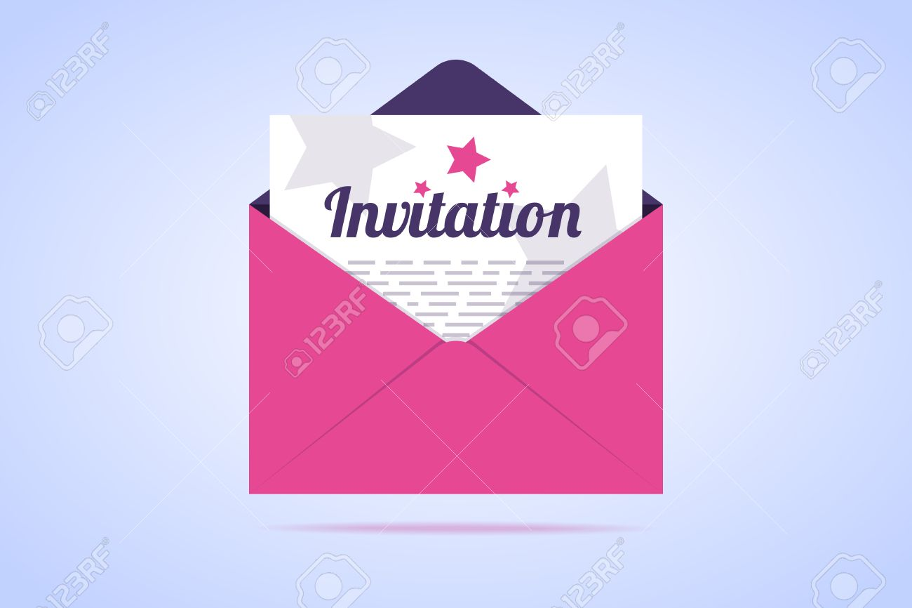Envelope with invitation letter vector illustration in flat stock envelope with invitation letter vector illustration in flat style stock illustration 71929048 stopboris Images