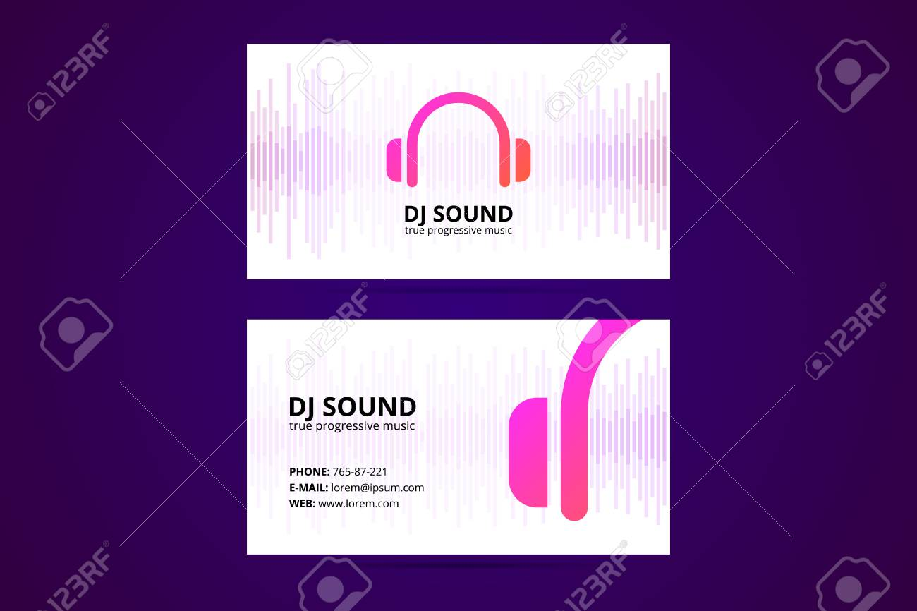 Business card template for dj and music business royalty free business card template for dj and music business stock vector 98354334 colourmoves