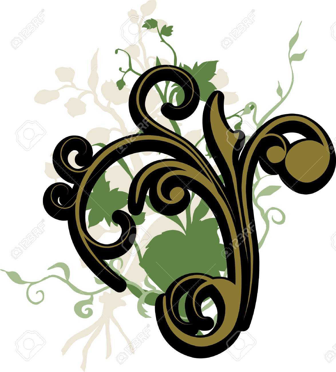 Floral Decoration Stock Vector - 4515619