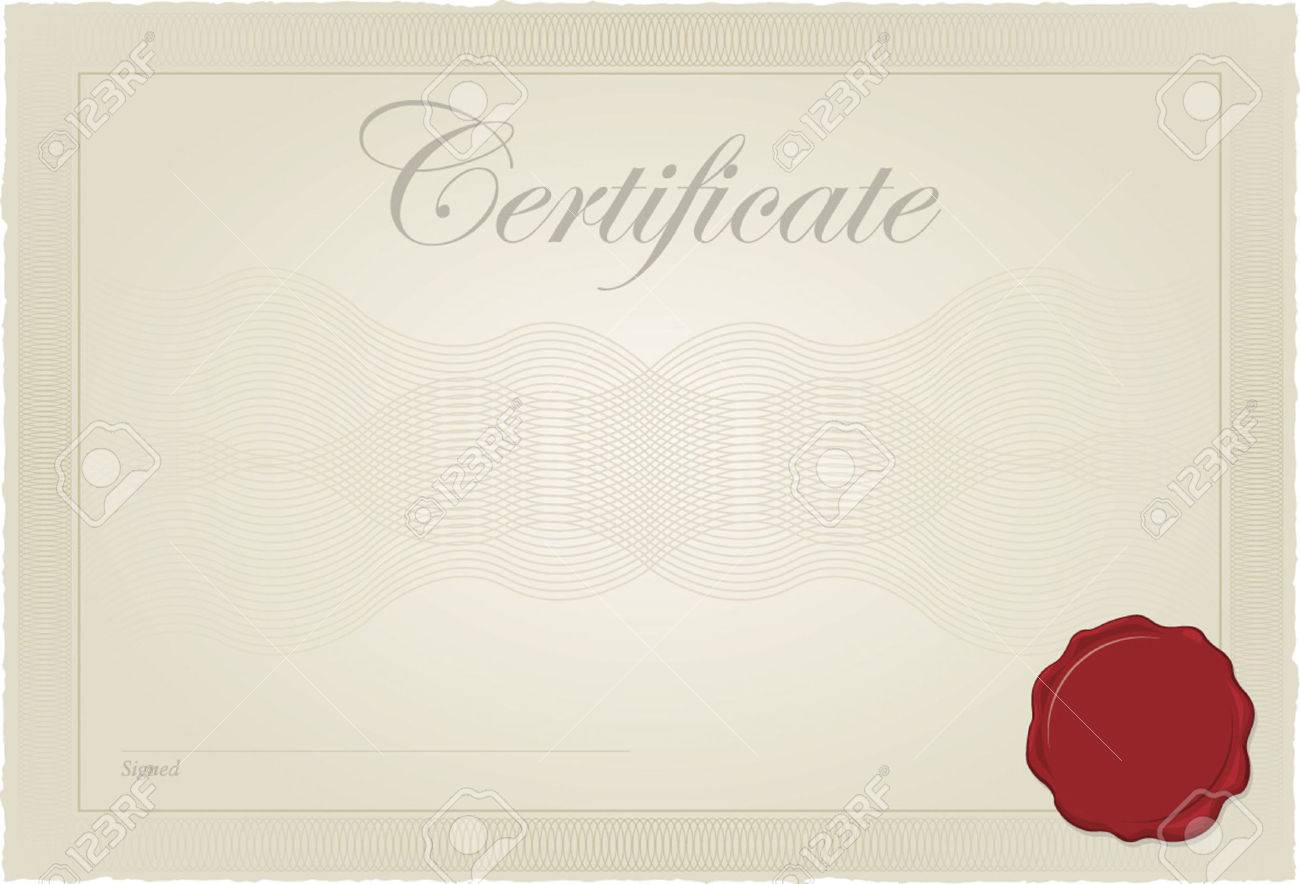 Certificate, Diploma Vector Template Royalty Free Cliparts, Vectors ...