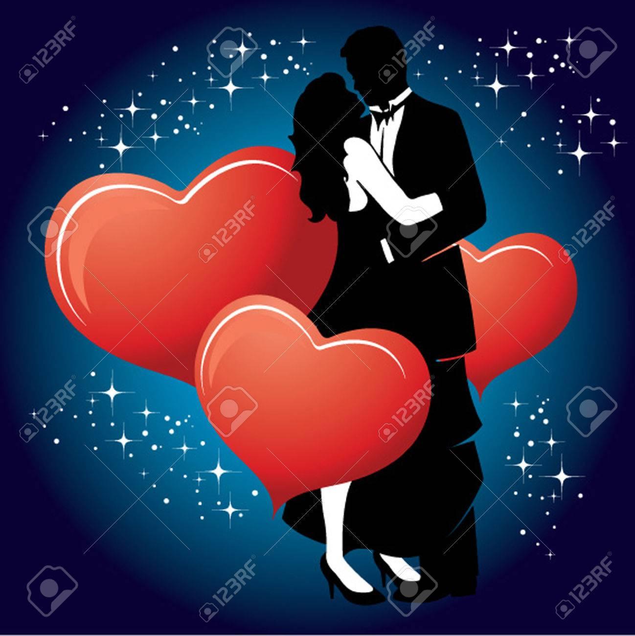 Romantic Valentine Couple Stock Vector - 6182148