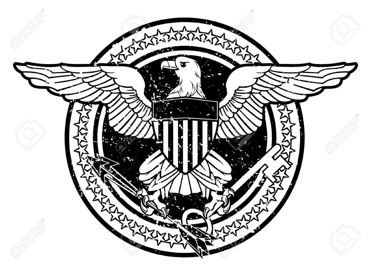 Vintage american eagle symbol