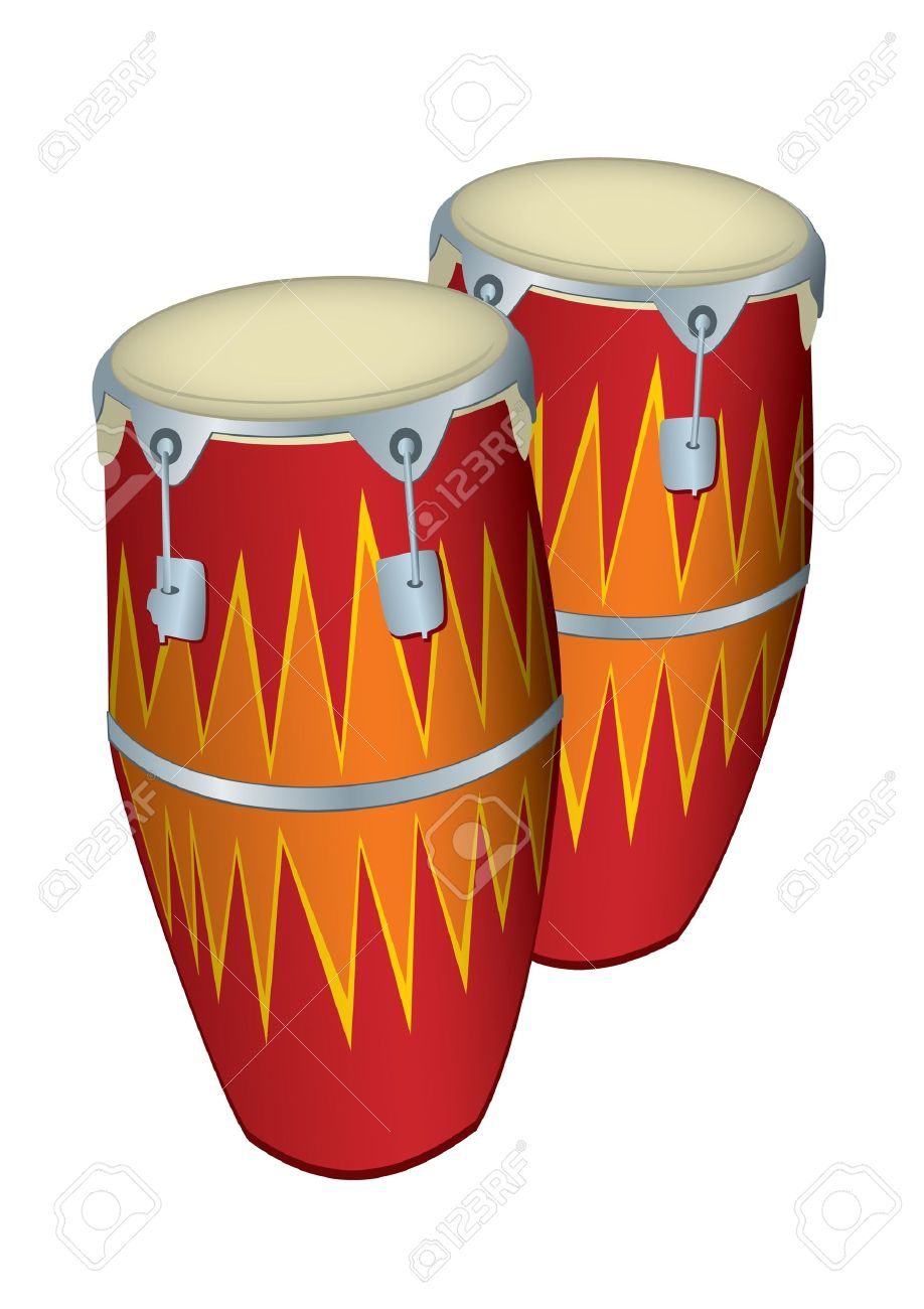 Illustration Of 2 Congas Stock Vector