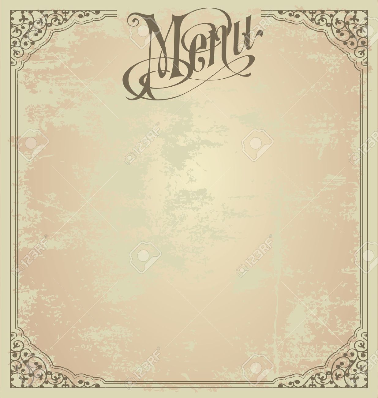 Menu Modele De Conception Clip Art Libres De Droits Vecteurs Et Illustration Image 18028471