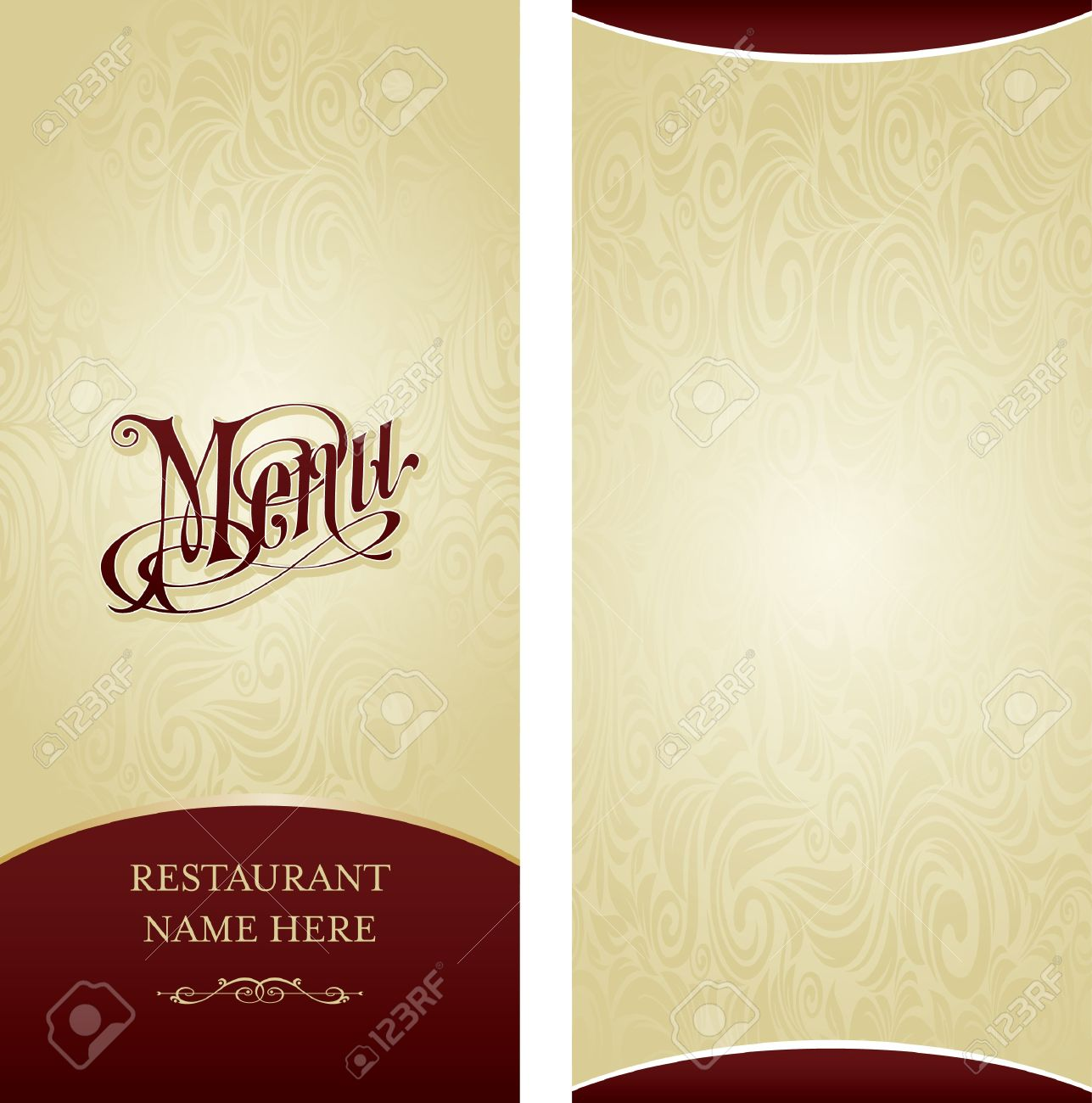 Menu Design Template Royalty Free Cliparts, Vectors, And Stock ...