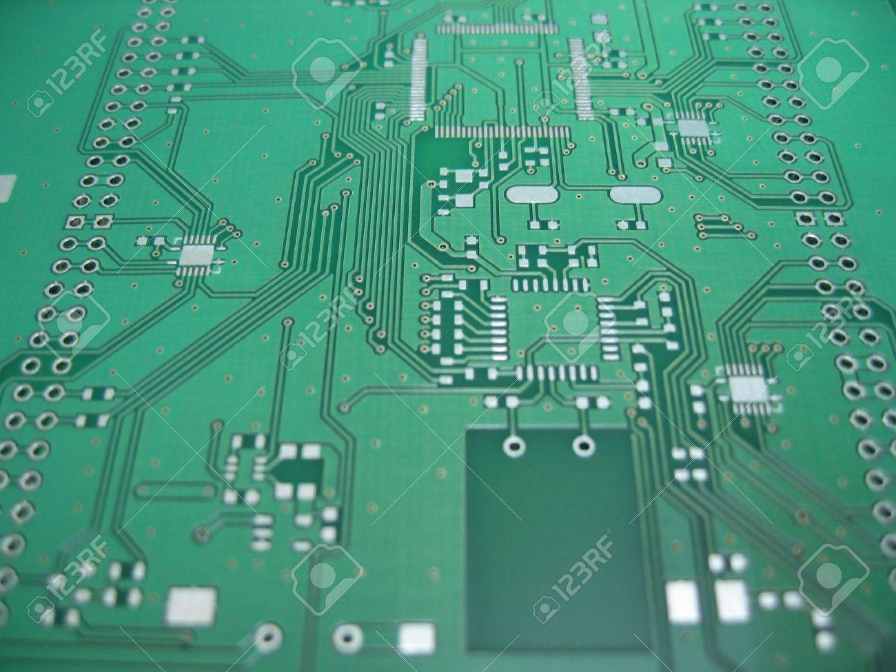 green printec circuit board pcb without any components soldered rh 123rf com