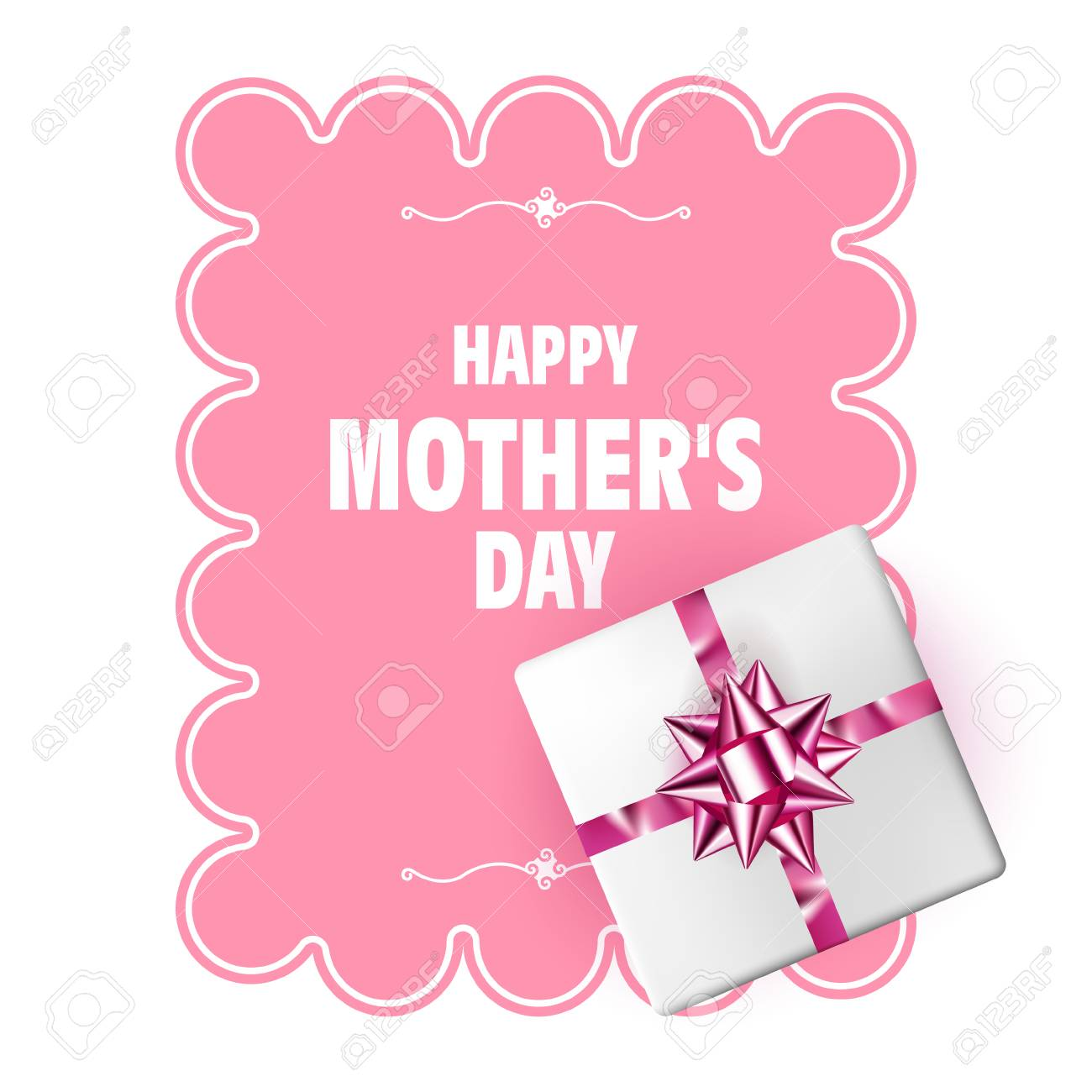 happy mothers day vector mother s day template with gift box