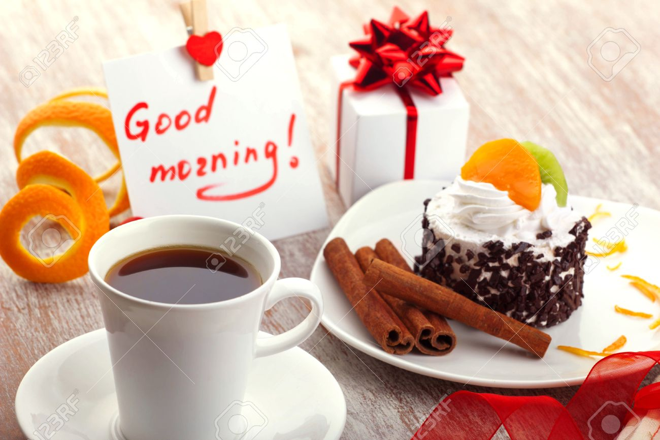 Love design morning coffee in white cup note with wish good love design morning coffee in white cup note with wish good morning little negle