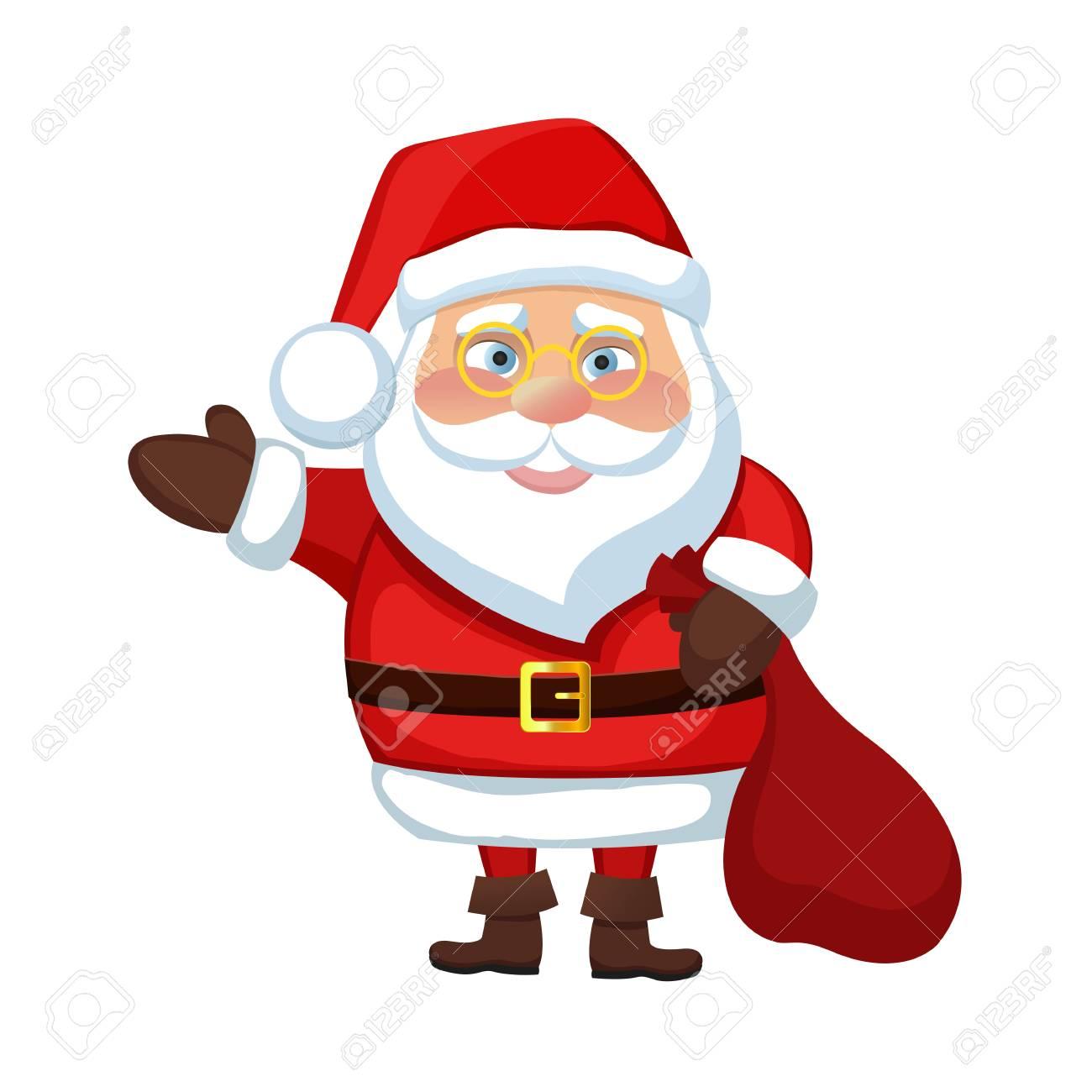 Abbildung Santa Claus Frohes Neues Jahr Frohe Weihnachten Wellen ...