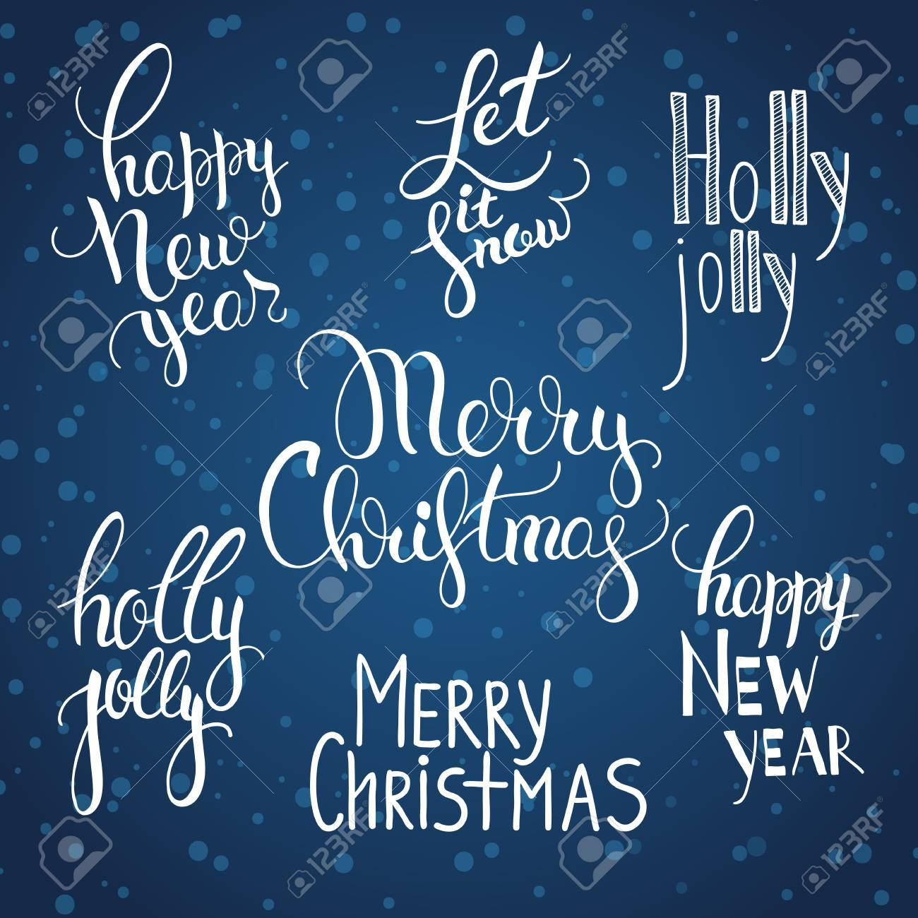 Illustration of a set of calligraphy lettering with greetings illustration of a set of calligraphy lettering with greetings merry christmas happy new year m4hsunfo