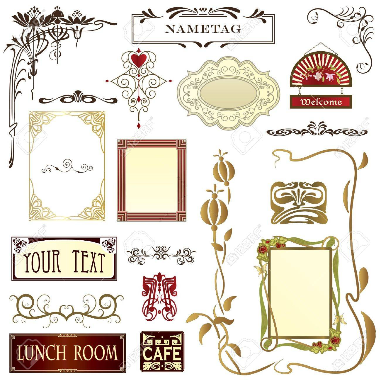 Design elements for advertising,stationary & web pages with copy space Stock Vector - 9783303