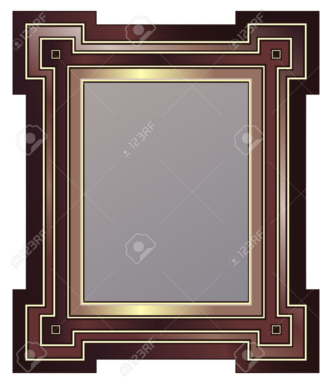 Art Deco Style Picture Frame Royalty Free Cliparts Vectors And