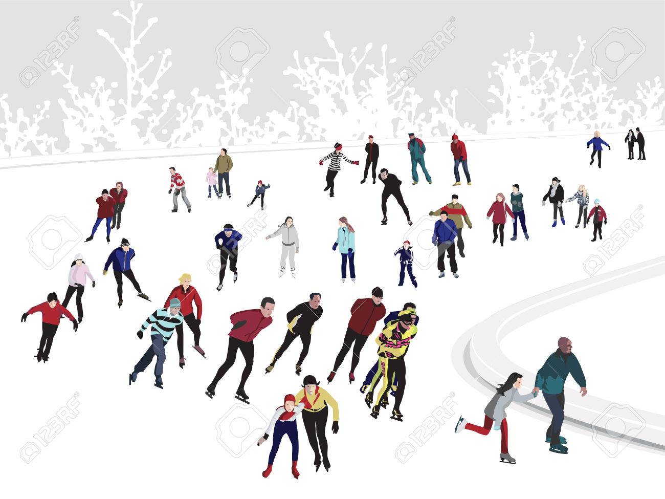 Ice Skating Rink Stock Vector - 11151580