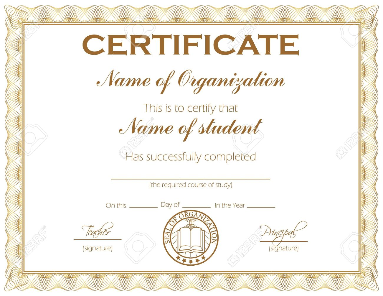 General Purpose Certificate Or Award With Sample Text That Can – Sample Certificate