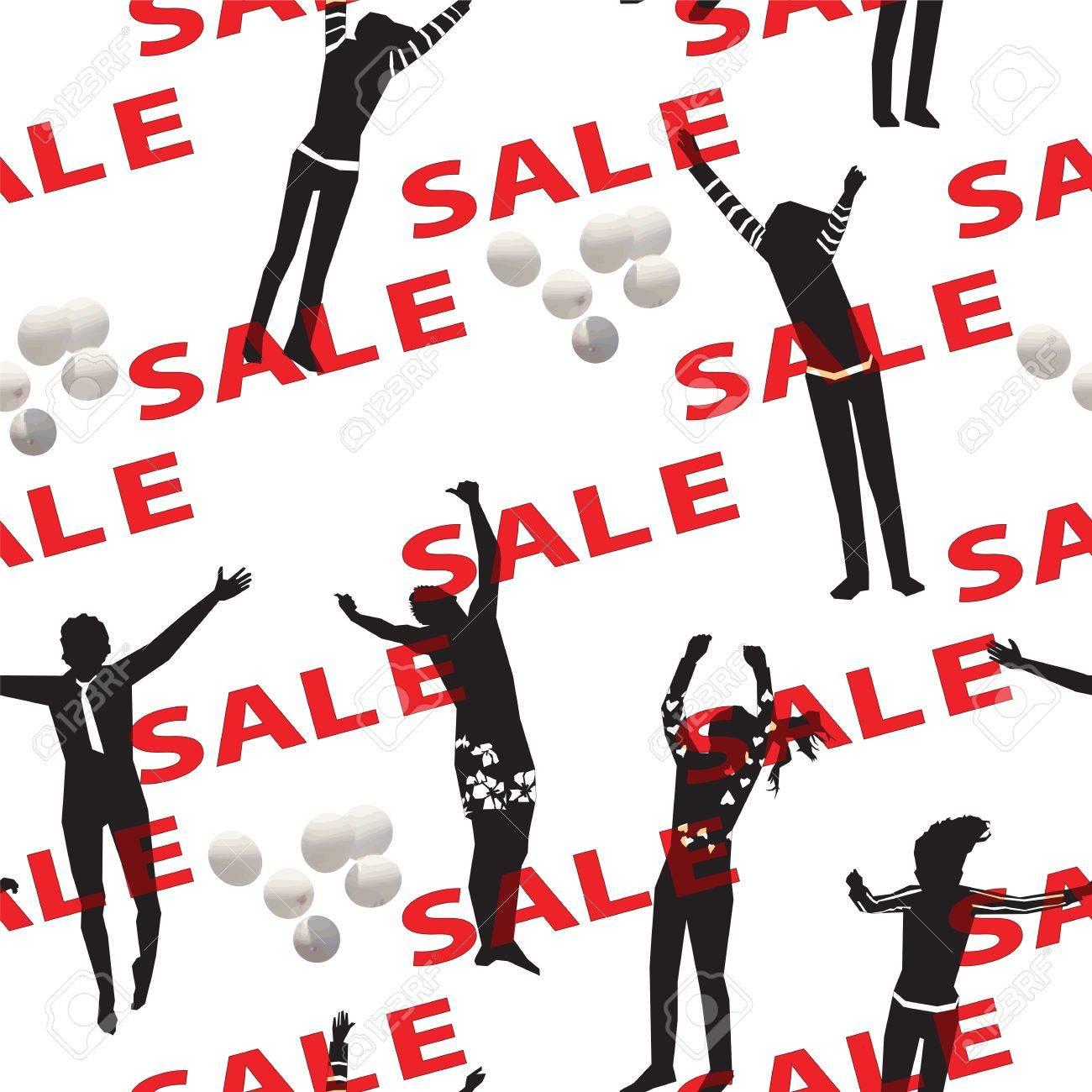Sale Seamless Backdrop Stock Vector - 16559174
