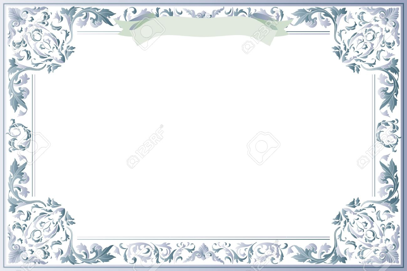 Blank Certificate Of Education Template Royalty Free Cliparts – Blank Certificate