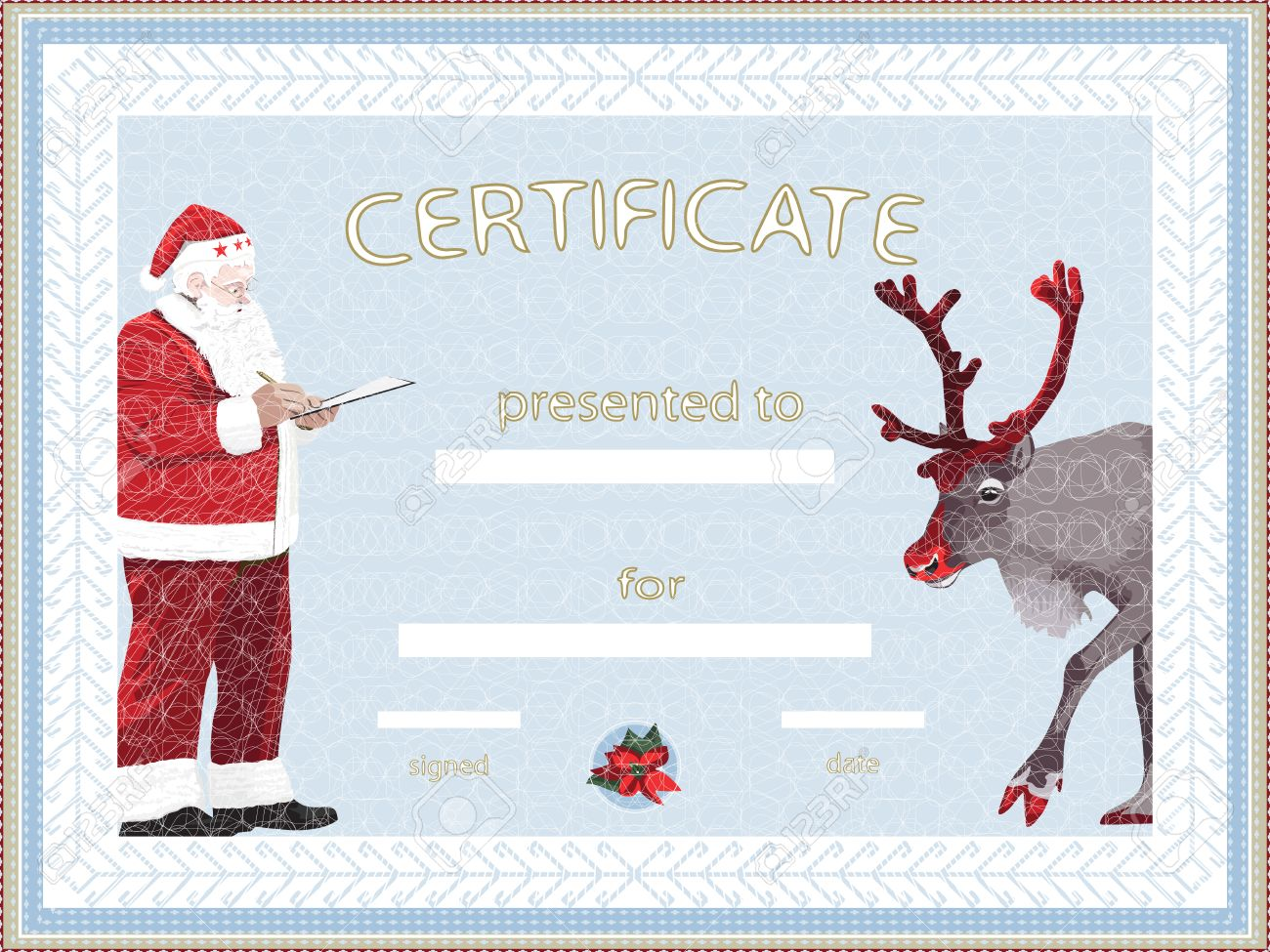 certificate provided by santa claus royalty cliparts vectors certificate provided by santa claus stock vector 23020530