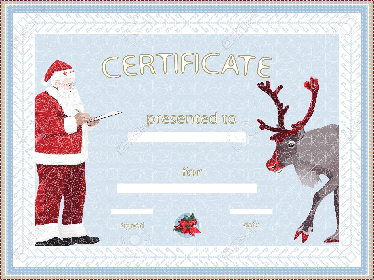 santa certificate template