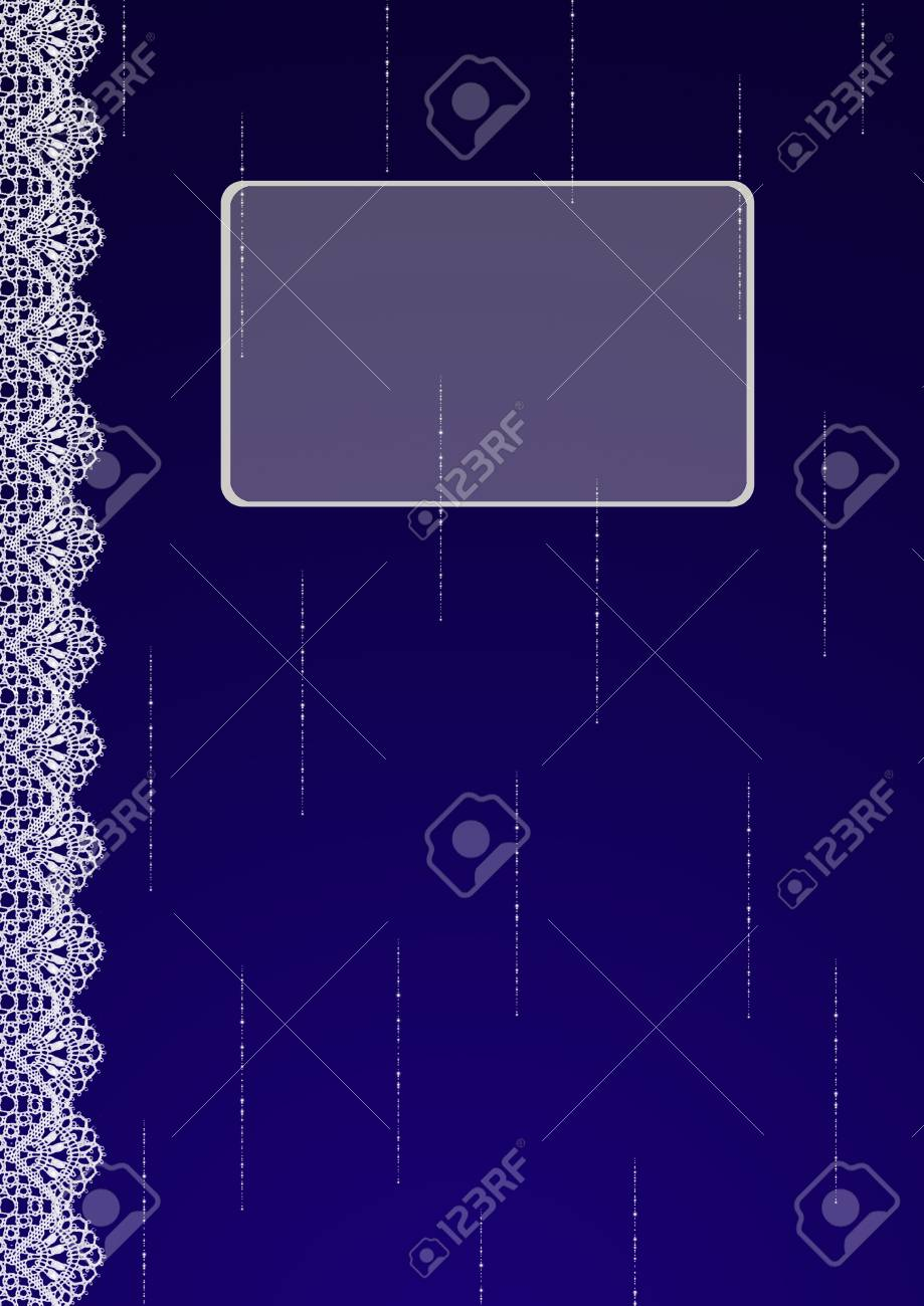 Book Cover Of Fashion ~ Pattern design of doily lace lattice mix on midnight blue color