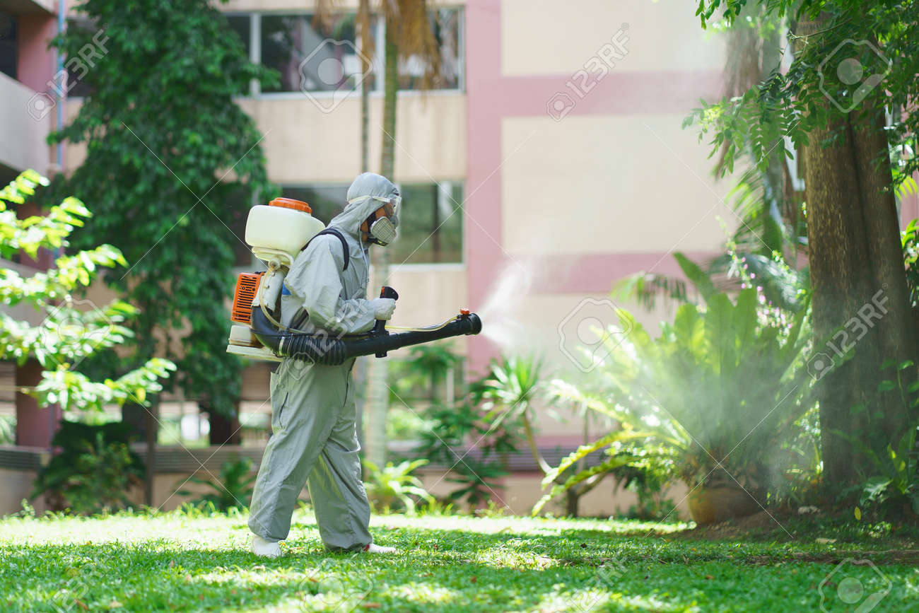 Disinfectant sprayers and germs that adhere on objects on the surface. prevent infection Covid 19 viruses or coronavirus And various pathogens. concept healthcare system ,stay safe and hand sanitizer. - 170694823