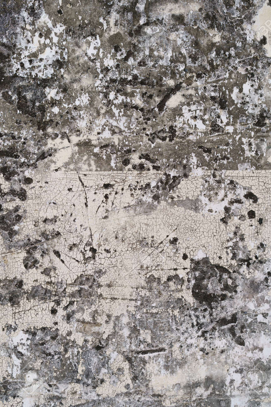 Loft-style plaster walls, gray, white, empty space used as wallpaper. Popular in home design or interior design. with copy spaces. - 171829224