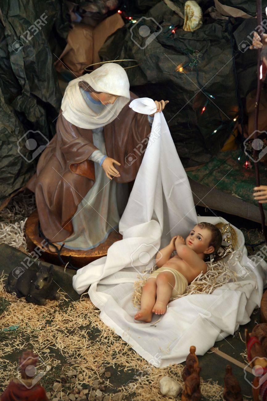 Nativity scene, Capernaum, The Church of the House of Peter Stock Photo - 5896675