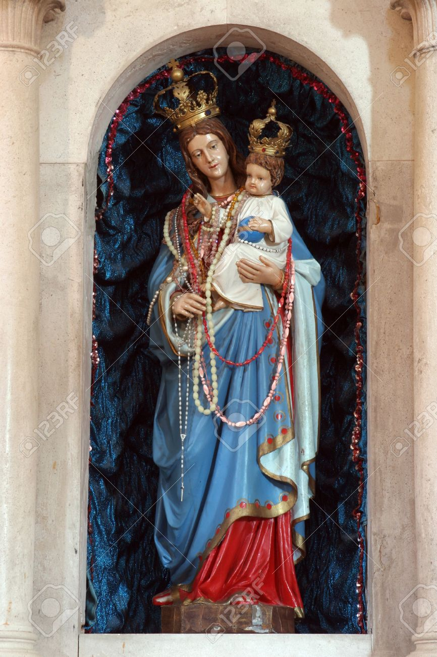 blessed virgin mary with baby jesus stock photo picture and royalty