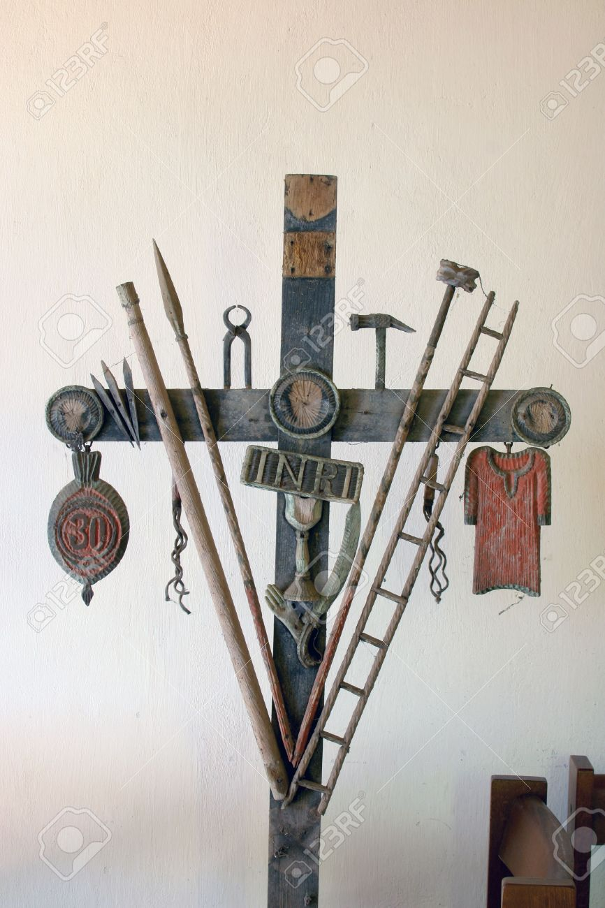 Christian cross with symbols of the passion of christ stock photo christian cross with symbols of the passion of christ stock photo 6350612 biocorpaavc