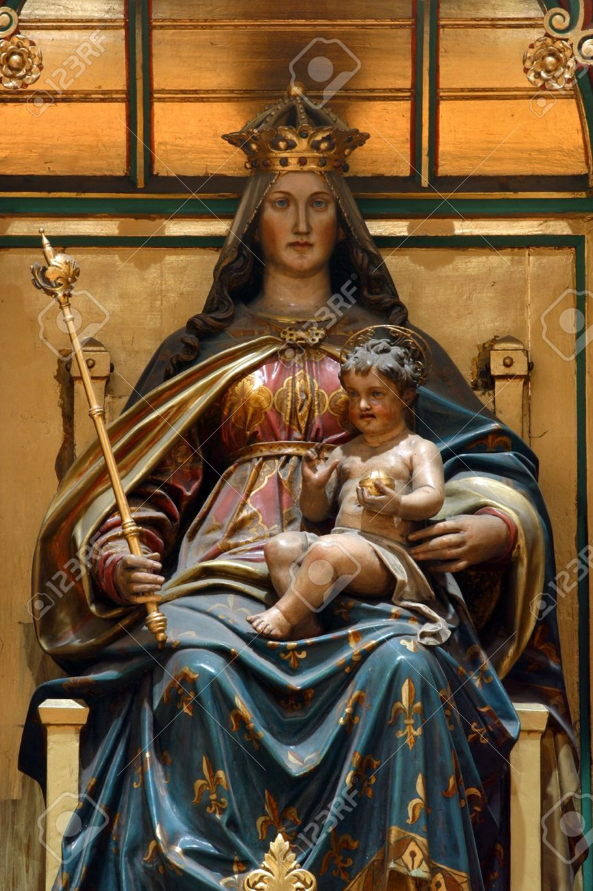 blessed virgin mary with baby jesus stock photo picture and
