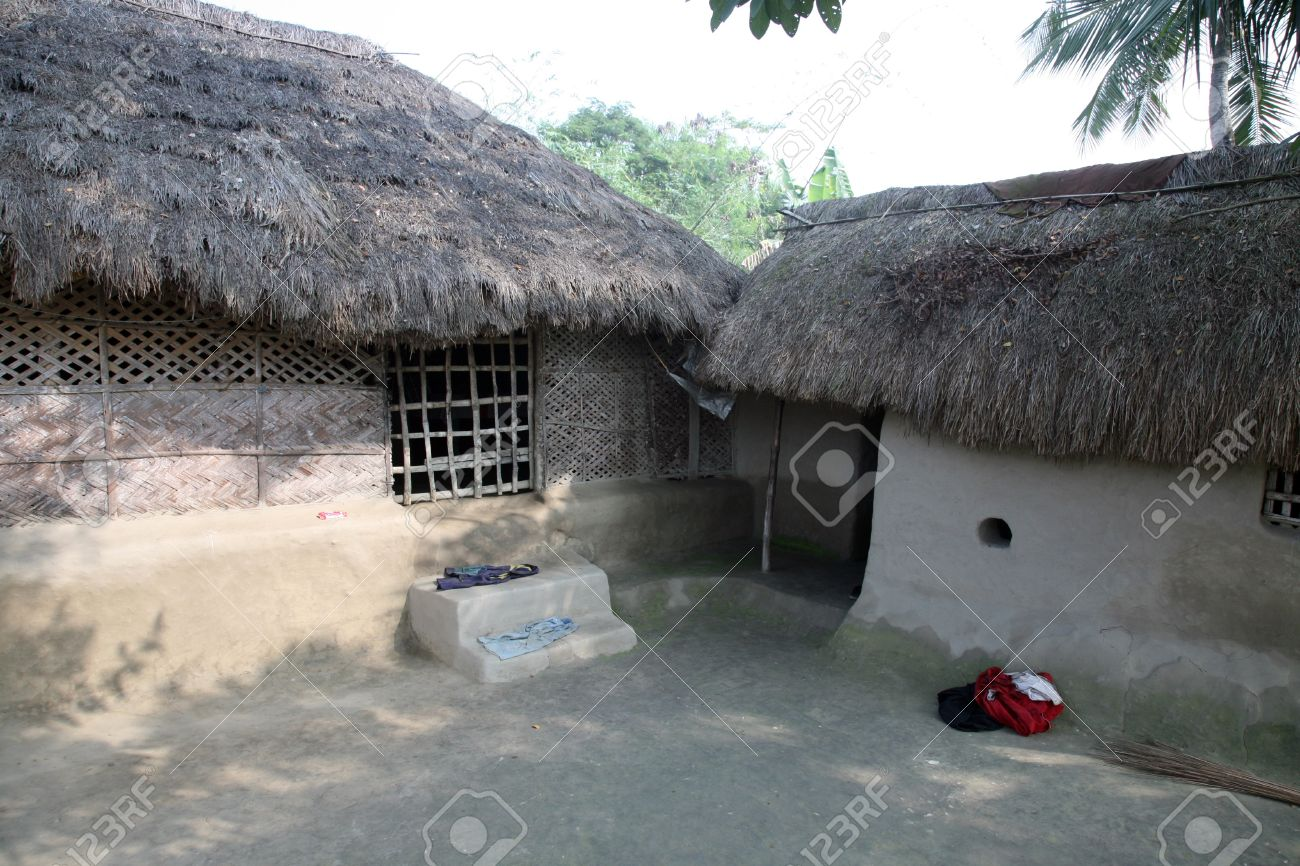 A Simple House In Bengali Village Stock Photo Picture And Royalty