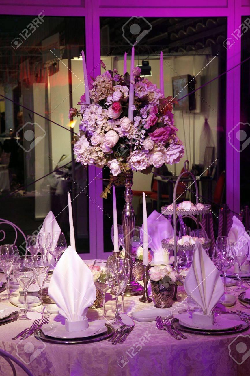 Beautiful table set for wedding Stock Photo - 12424894