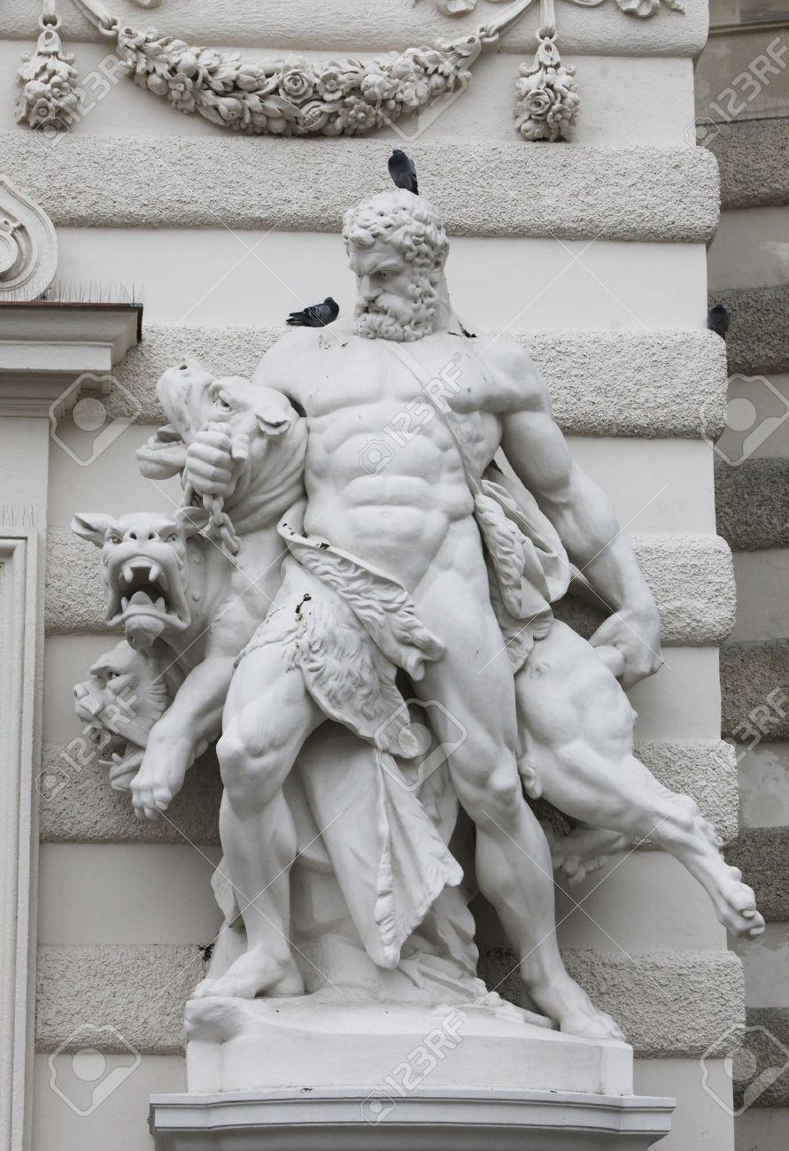 Hercules and Cerberus, Hofburg, Vienna Stock Photo - 14966650