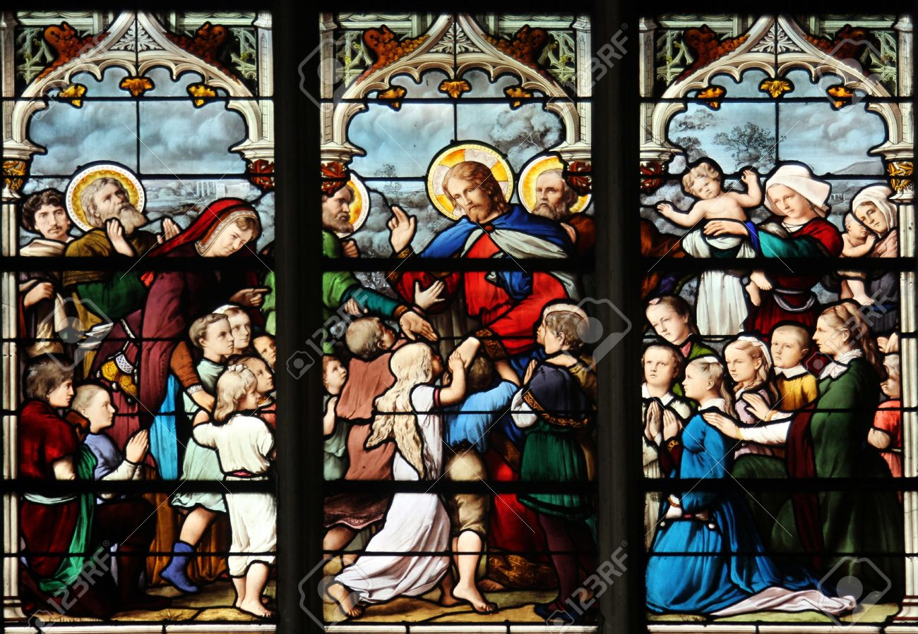 jesus friend of little children stained glass saint severin