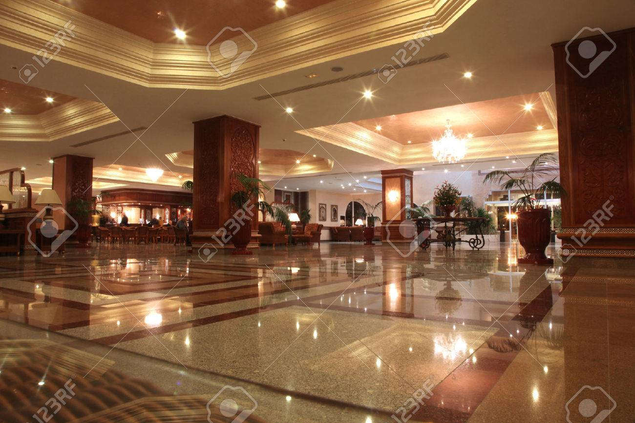 Modern hotel lobby with marble floor Stock Photo - 29851854
