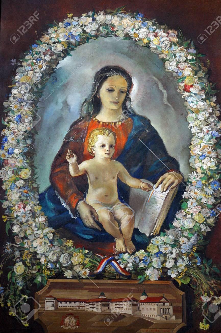 Bienaventurada Virgen María Con El Niño Jesús Fotos Retratos